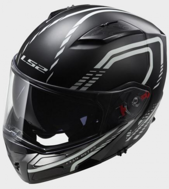 Шлем модуляр LS2 FF324 METRO FIREFLY MATT BLACK