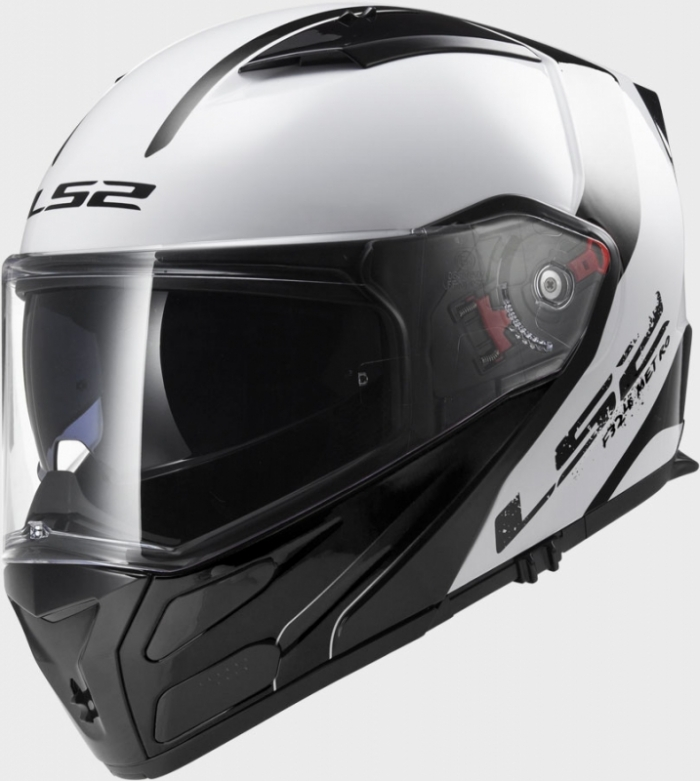Шлем модуляр LS2 FF324 METRO RAPID WHITE-BLACK