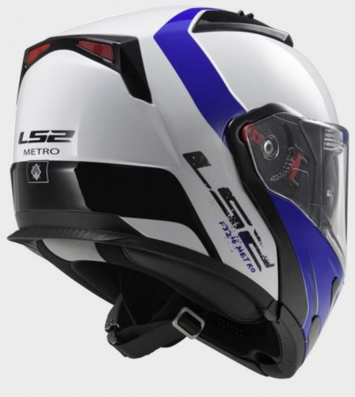 Шлем модуляр LS2 FF324 Metro Rapid White Blue цена