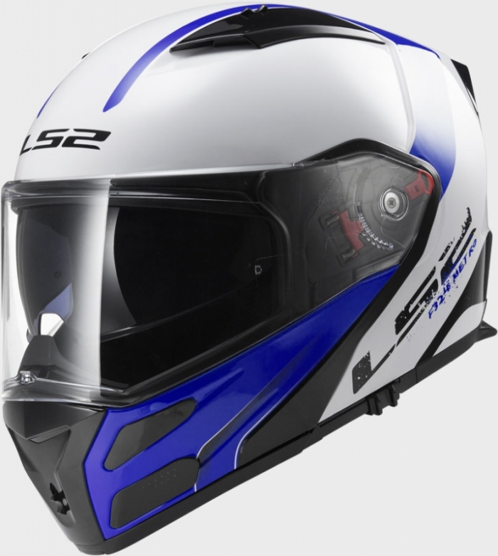 Шлем модуляр LS2 FF324 Metro Rapid White Blue