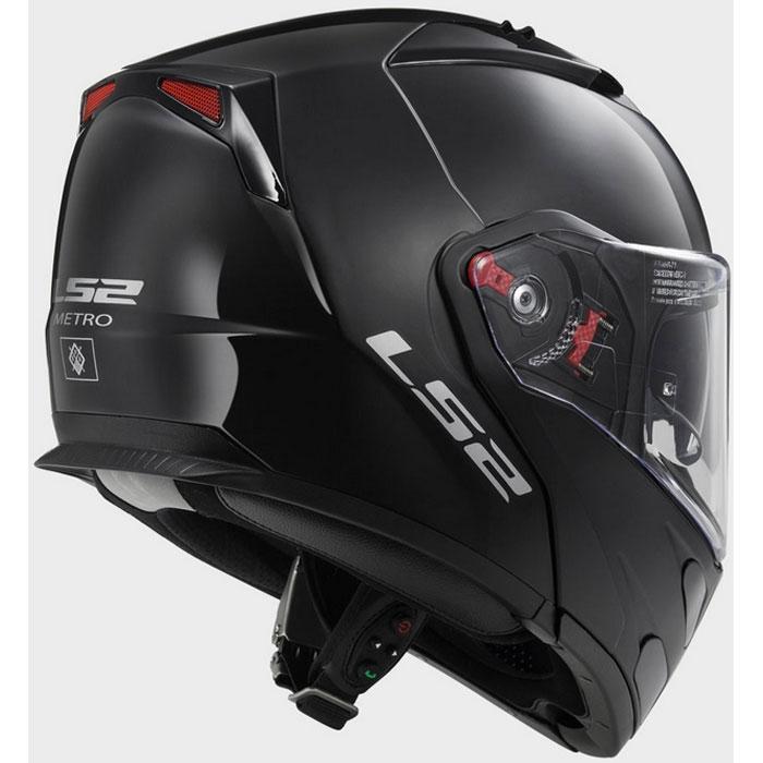 Шлем модуляр ls2 ff324 metro solid black цена