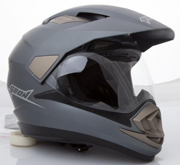 Шлем мотард GEON 714 Дуал-спорт Trek Gray Matt