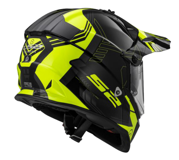 Шлем мотард LS2 MX436 PIONEER TRIGGER BLACK WHITE YELLOW купить