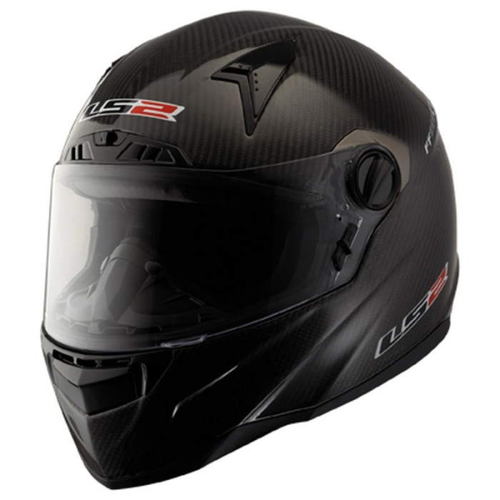 Шлем LS2 FF385 CT2 CARBON Solid Black Gloss