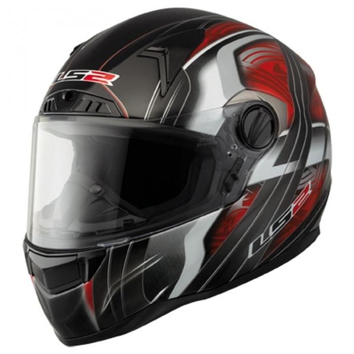 Шлем LS2 FF385 FT2 Split Red Black Gloss