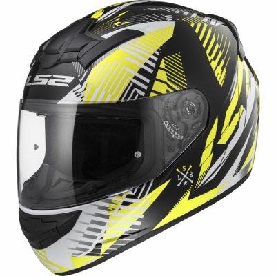 Шлем LS2 FF352 ROOKIE INFINITE белый/черный/желтый