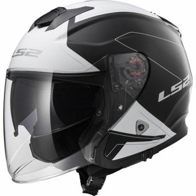 Открытый шлем LS2 INFINITY OF521 BEYOND черный/белый