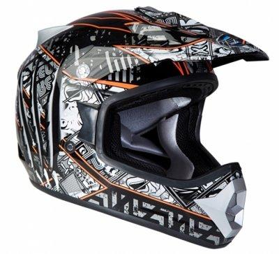 Шлем GEON 623 Кросс Score черный-оранжевый