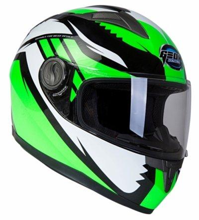 Шлем GEON 968 Интеграл Race черный-зеленый
