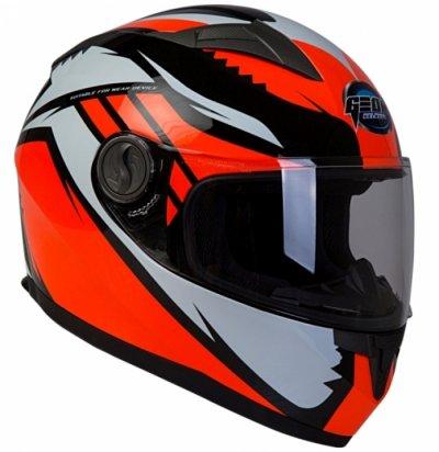 Шлем GEON 968 Интеграл Race черный-оранжевый