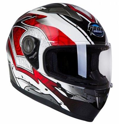 Шлем GEON 968 Интеграл Swift белый-красный