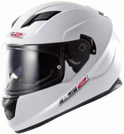 Шлем LS2 FF320 Stream Solid White Gloss