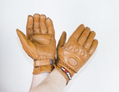 Мотоперчатки шкіряні Atrox CLASSIC CHOPPER BROWN