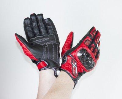 Мотоперчатки кожаные Atrox SHARK RED