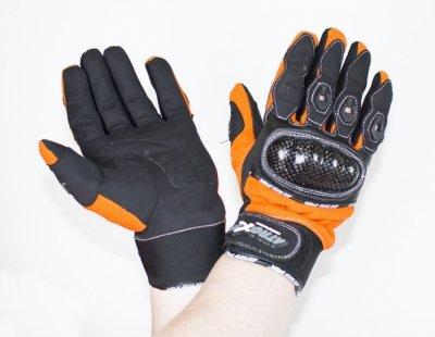 Мотоперчатки текстильные  Atrox STUNT ORANGE