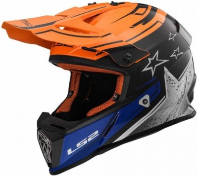 Кроссовый шлем LS2 MX437 FAST CORE BLACK ORANGE