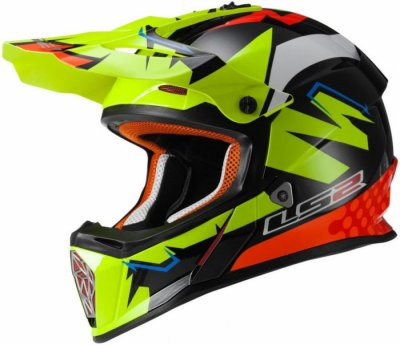Кроссовый шлем LS2 MX437 FAST ISAAC VINALES GREEN BLACK RED