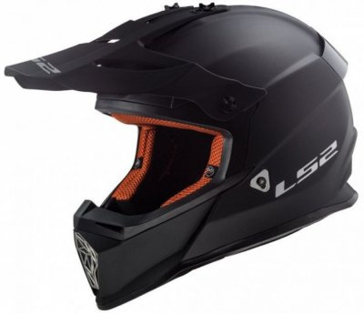 Кроссовый шлем LS2 MX437 FAST SOLID MATT BLACK