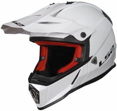 Кроссовый шлем LS2 MX437 FAST SOLID WHITE