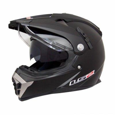 Шлем мотард LS2 MX455 Black Matt