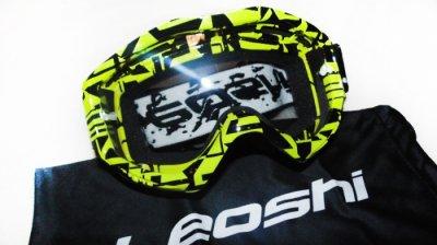 Кроссовые очки Leoshi Yellow Black