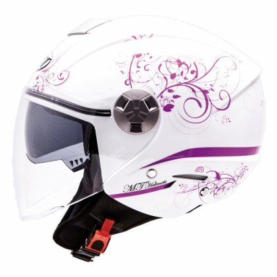MT Helmets City Eleven Bella white/purple