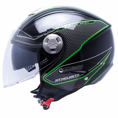 MT Helmets City Eleven Dynamic black/fluor green