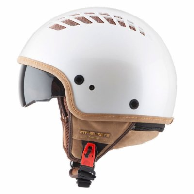 MT Helmets Cosmo Solid pearl white