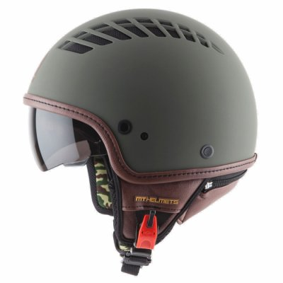 MT Helmets Cosmo Solid rubber green military