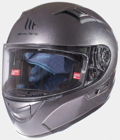 MT Helmets KRE SV Solid gloss titanium