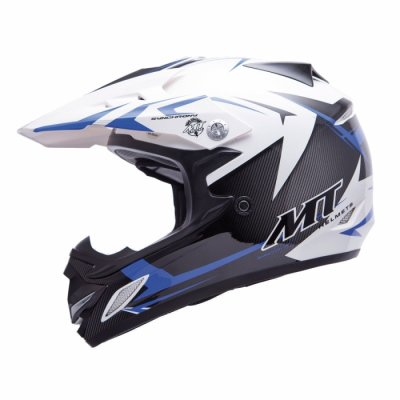 MT Helmets MX2 Synhrony Steel white / blue