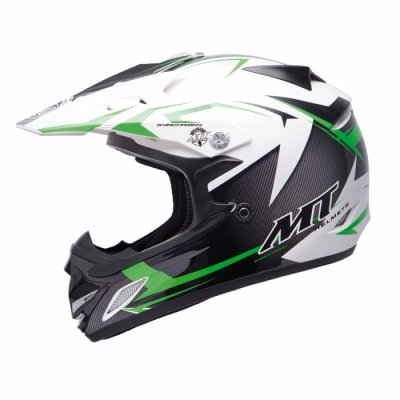 MT Helmets MX2 Synhrony Steel white / green