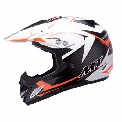 MT Helmets MX2 Synhrony Steel white / orange
