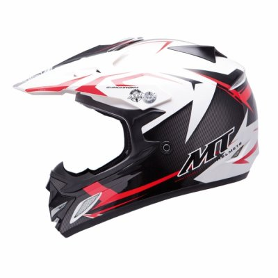 MT Helmets MX2 Synhrony Steel white / red