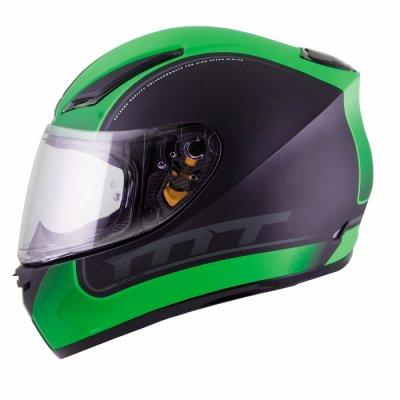MT Helmets REVENGE Binomy black / white / fluo green