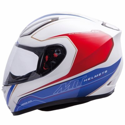 MT Helmets REVENGE LIMITED-EVO white/blue/red