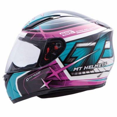 MT Helmets REVENGE Replica GP turquoise/dark pink/black