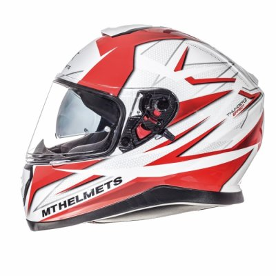 MT Helmets Thunder 3 Effect gloss pearl white/red