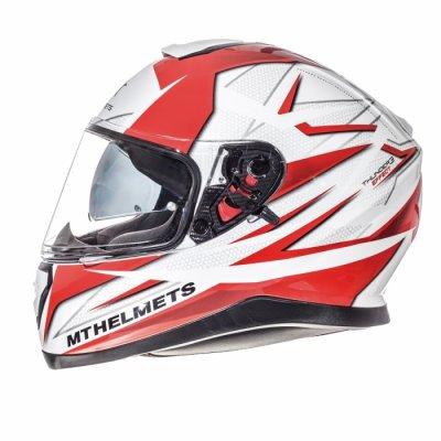 MT Helmets Thunder 3 Effect gloss pearl white / red
