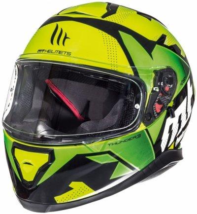 MT Helmets Thunder 3 Torn gloss fluor yellow/fluor green