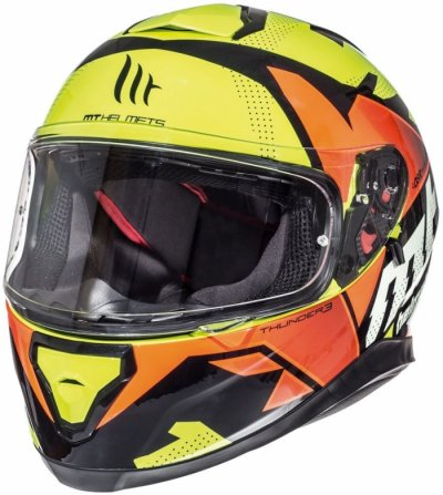 MT Helmets Thunder 3 Torn gloss fluor yellow/fluor orange
