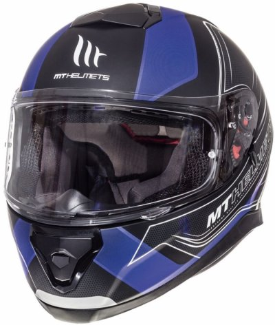 MT Helmets Thunder 3 Trace Matt Black Blue