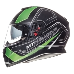 MT Helmets Thunder 3 Trace matt black fluor green