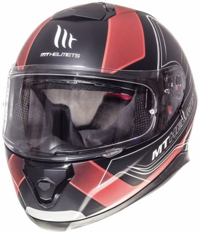 MT Helmets Thunder 3 Trace Matt Black Red