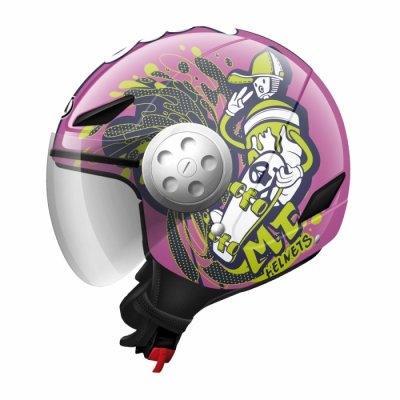 MT Helmets Urban Kids Skate Board pink