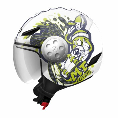 MT Helmets Urban Kids Skate Board white / fluor yellow