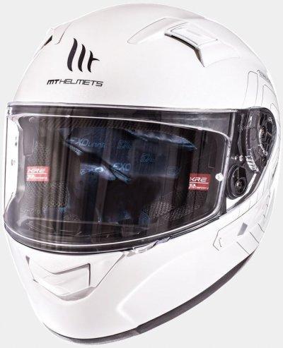 MT Helmets KRE SV Solid gloss white