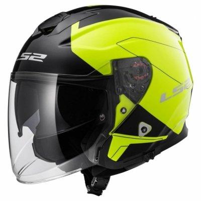 Открытый шлем LS2 INFINITY OF521 BEYOND черный/желтый