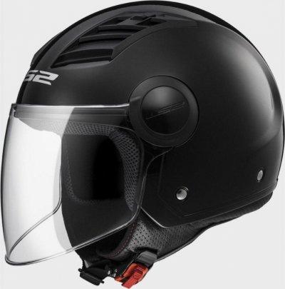 Открытый шлем LS2 OF562 AIRFLOW LONG GLOSS BLACK