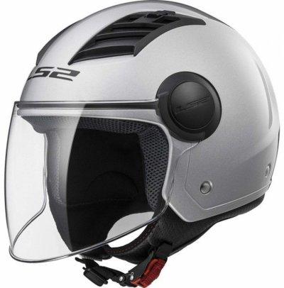 Открытый шлем LS2 OF562 AIRFLOW LONG GLOSS SILVER